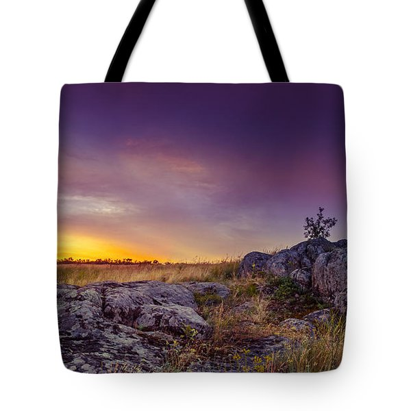 Dawn At Steppe Tote Bag by Dmytro Korol