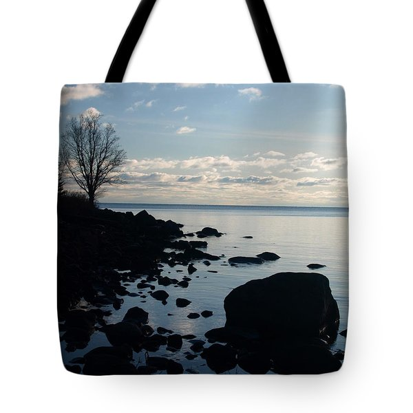 Tote Bag featuring the photograph Dawn At The Cove by James Peterson