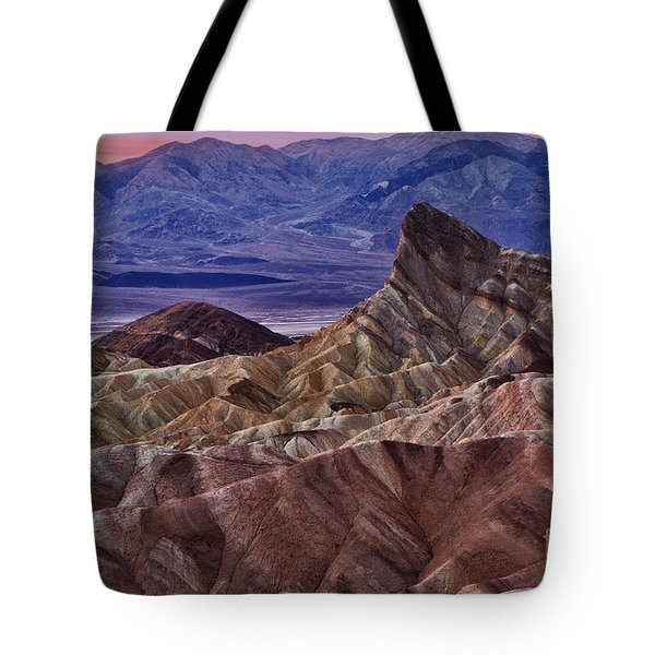 Tote Bag featuring the photograph Dawn At Zabriskie Point by Jerry Fornarotto