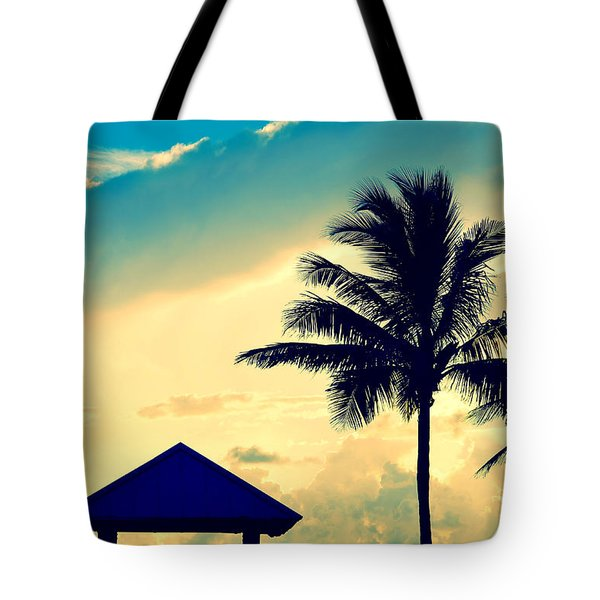 Dawn Beach Pyramid Tote Bag