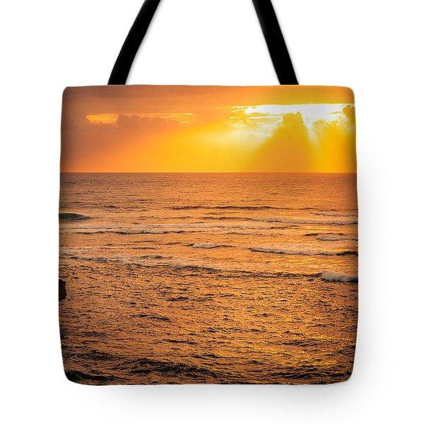 Dawn Fisherman Tote Bag