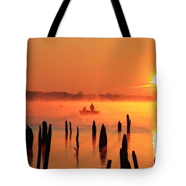 Dawn Fishing Tote Bag