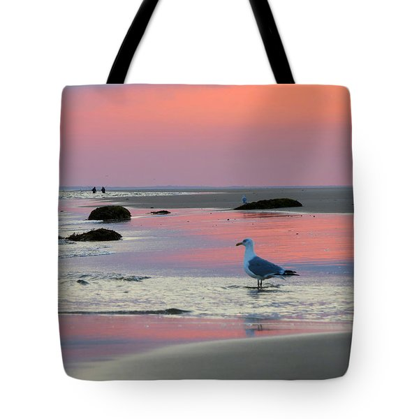 Tote Bag featuring the photograph Dawn In Pink by Dianne Cowen