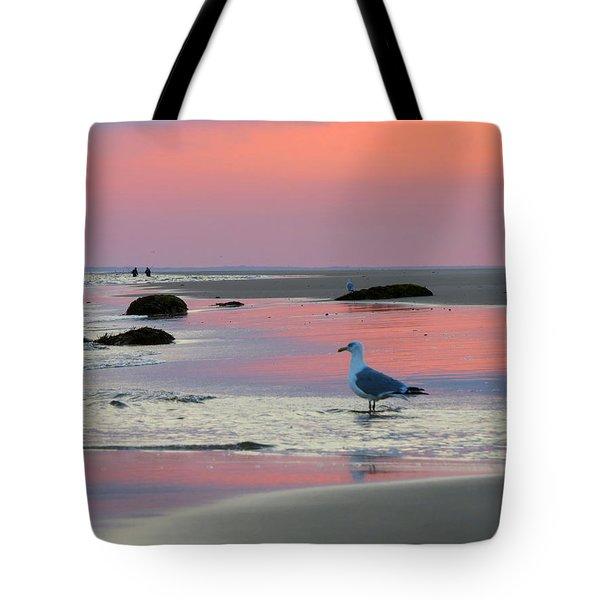 Dawn In Pink Tote Bag by Dianne Cowen