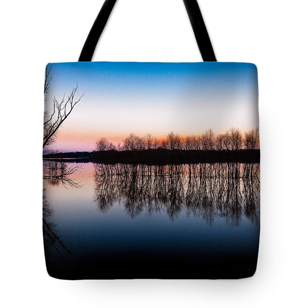 Dawn In The Flood Tote Bag
