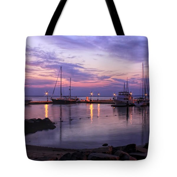 Dawn In Yorktown Virginia Tote Bag