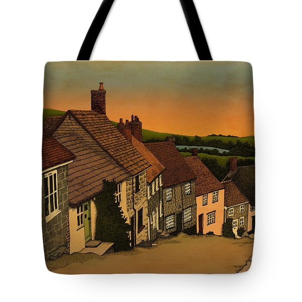 Tote Bag featuring the drawing Daybreak by Meg Shearer