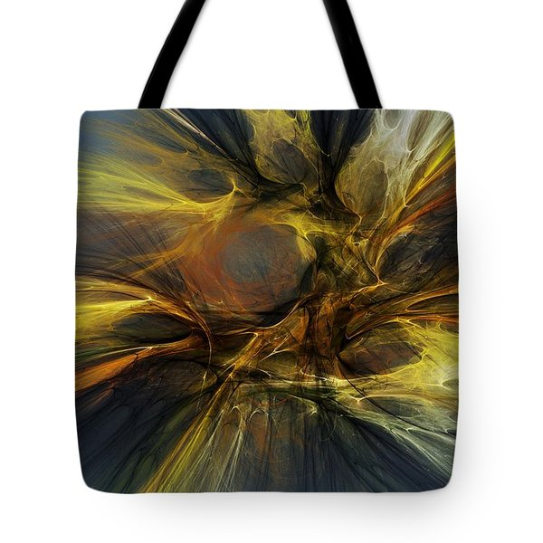 Tote Bag featuring the digital art Dawn Of Enlightment by David Lane