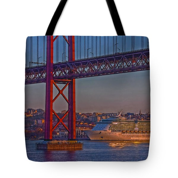 Dawn On The Harbor Tote Bag by Hanny Heim