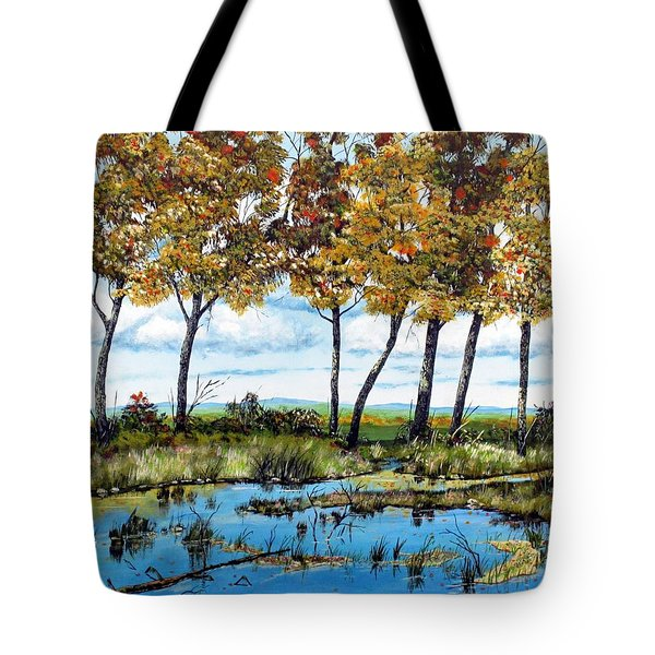 Dawn's Blue Waters Edge  Tote Bag