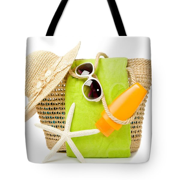 Day At The Beach Tote Bag by Amanda Elwell