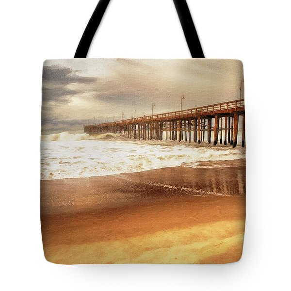 Day At The Pier Large Canvas Art, Canvas Print, Large Art, Large Wall Decor, Home Decor, Photograph Tote Bag