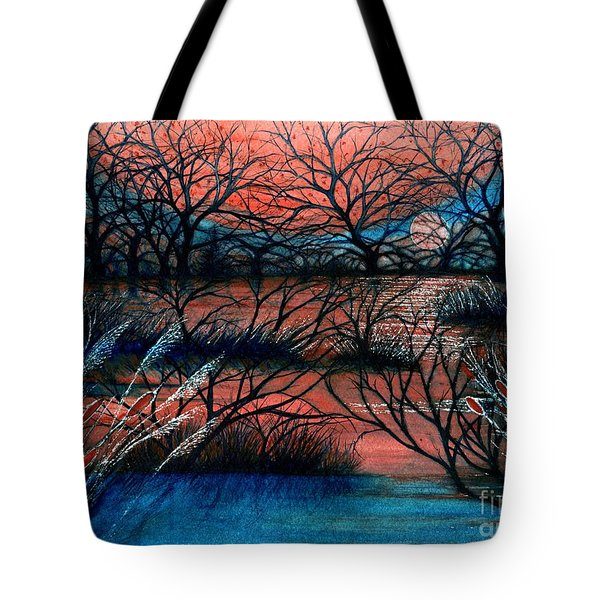 Day Is Done October Sky Tote Bag