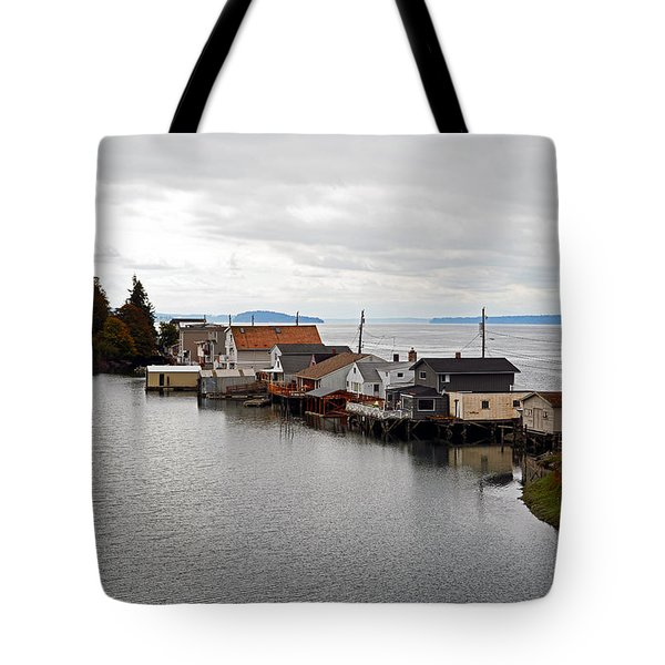 Day Island Bridge View 1 Tote Bag