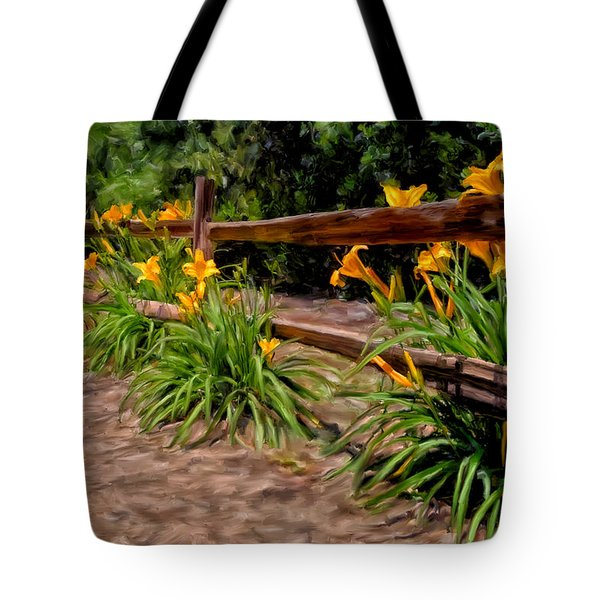 Day Lilies Tote Bag by Michael Pickett