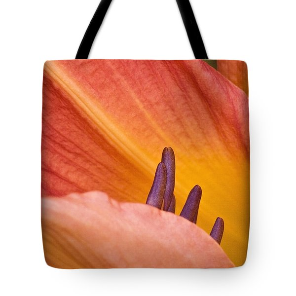 Tote Bag featuring the photograph Day Lily  1 by Richard J Thompson