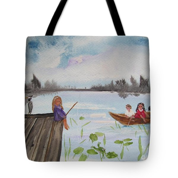 Day Of Fishing Tote Bag