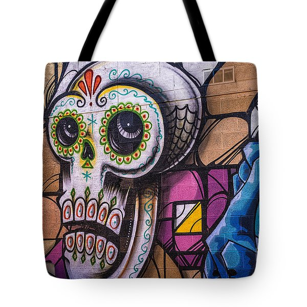 Day Of The Dead Mural Tote Bag
