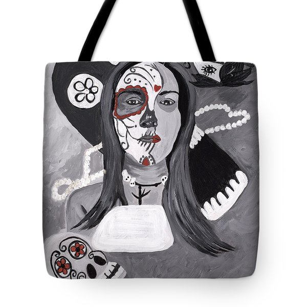 Day Of The Dead Tote Bag by Reba Baptist