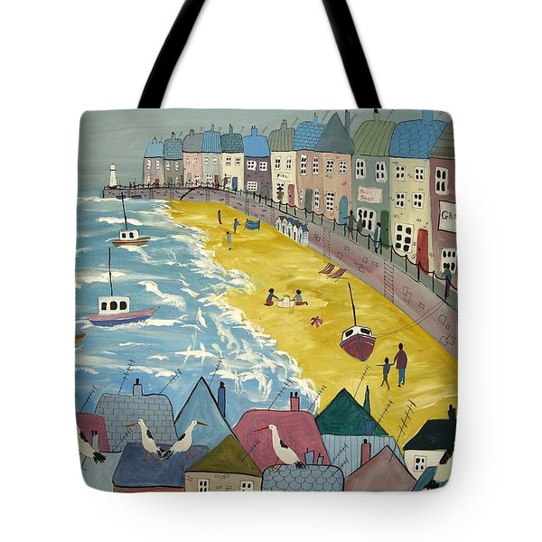 Day On The Beach Tote Bag by Trudy Kepke