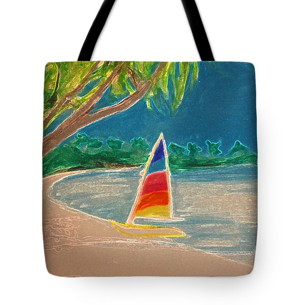 Day Sailer Tote Bag by First Star Art