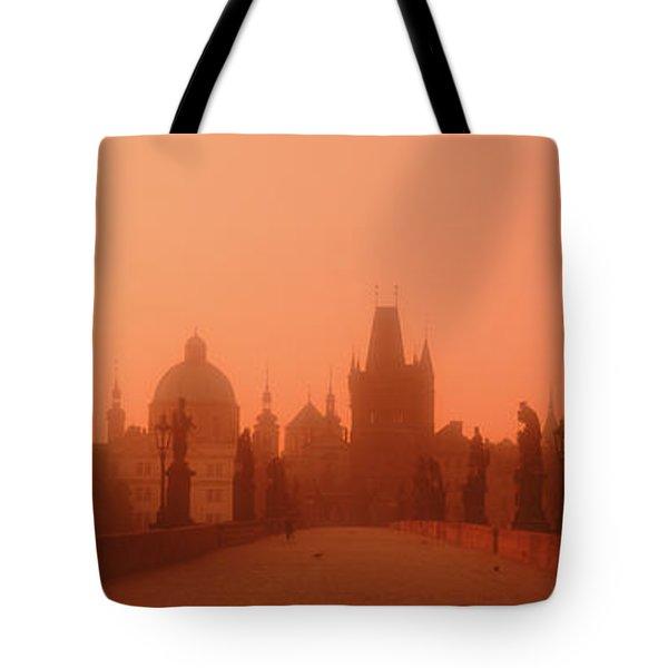 Daybreak Karluvmost Praha Czech Republic Tote Bag