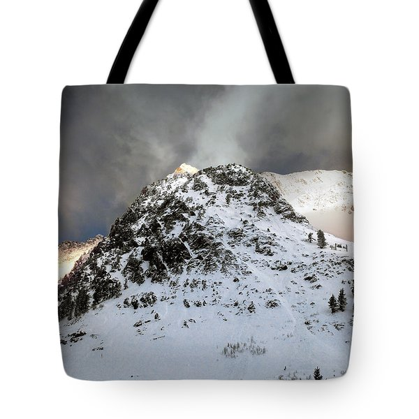 Tote Bag featuring the photograph Daybreak On The Mountain by Jim Hill
