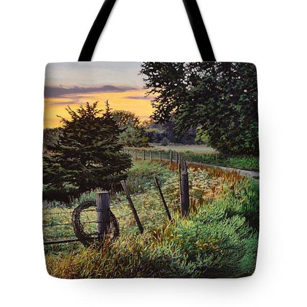 Daybreak Southwest Corner Fenceline Tote Bag by Bruce Morrison