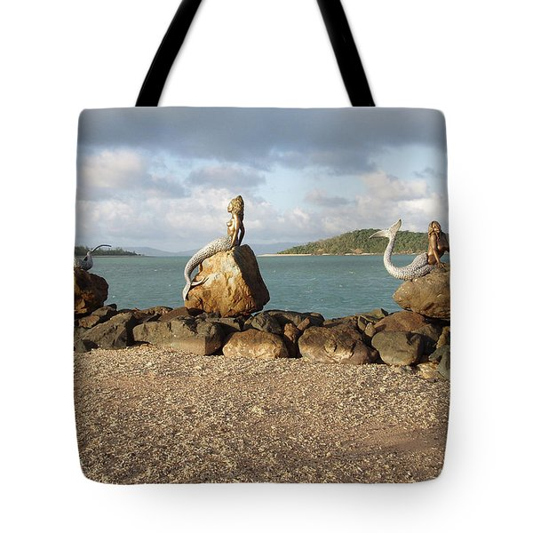 Tote Bag featuring the photograph Daydream Mermaids by Absinthe Art By Michelle LeAnn Scott