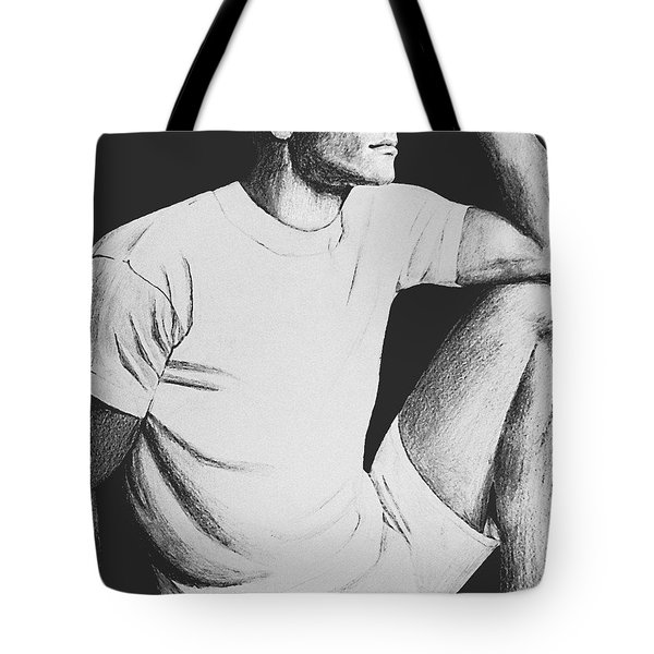 Tote Bag featuring the drawing Daydreaming by Sophia Schmierer