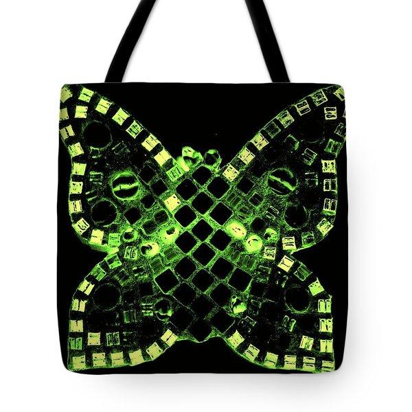 Dayglo Butterfly Tote Bag by Lisa Brandel