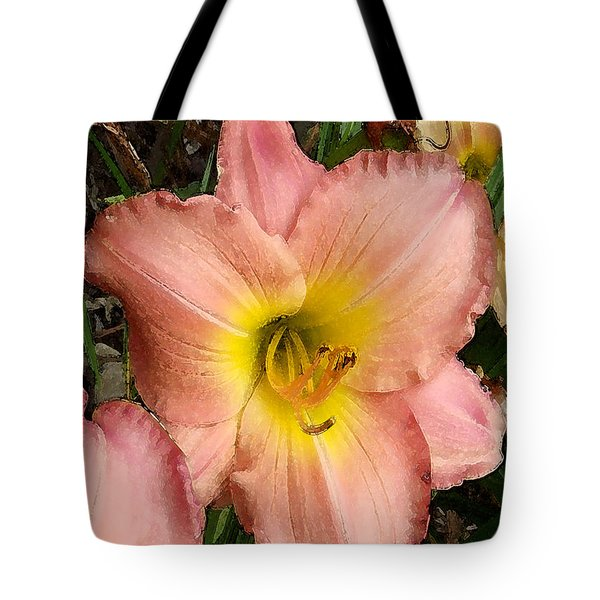 Tote Bag featuring the photograph Daylilies by Jayne Wilson