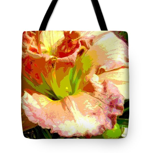 Daylily 1 Tote Bag by Sally Simon