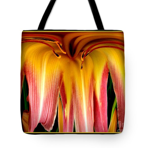 Daylily Flower Abstract 3 Tote Bag by Rose Santuci-Sofranko
