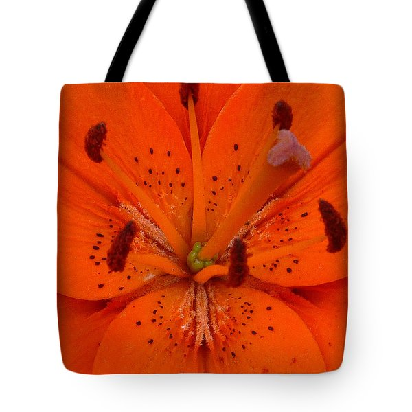 Daylily Heart Tote Bag