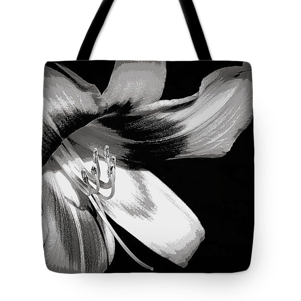 Daylily In Gray Tote Bag