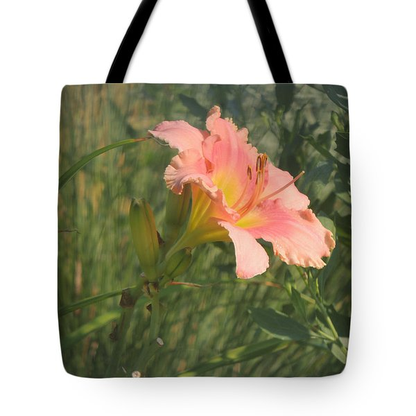 Tote Bag featuring the photograph Daylily In The Sun by Jayne Wilson