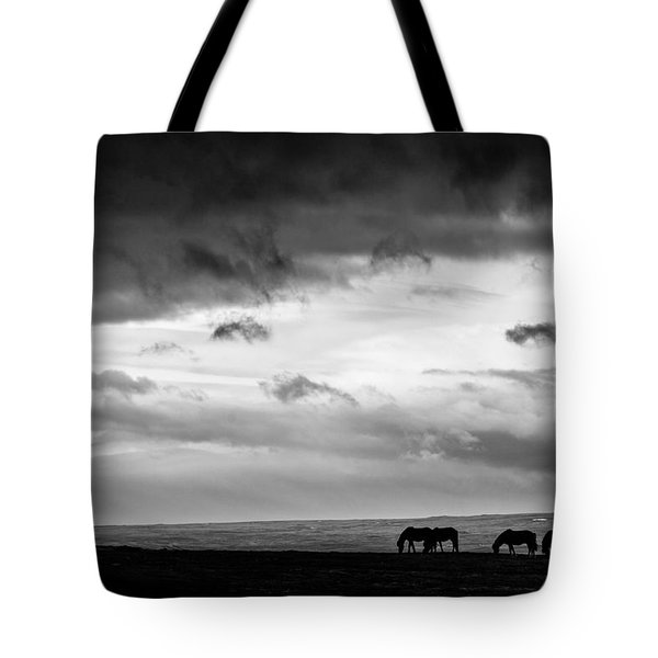Days End At Hvammstangi Tote Bag by Dave Bowman
