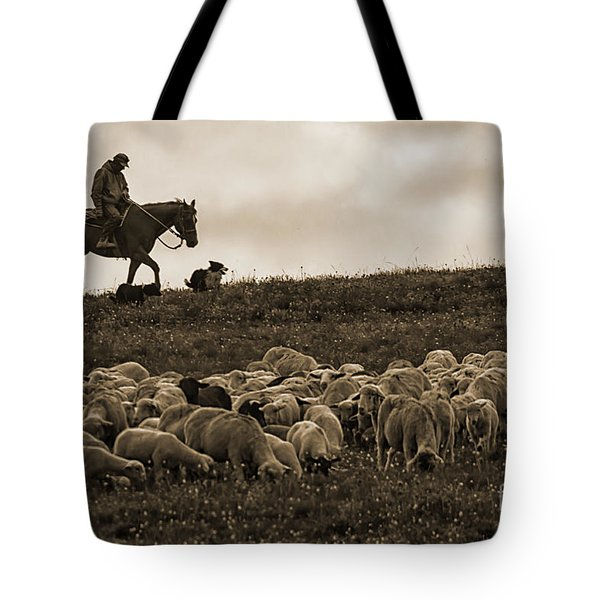 Days End Sheep Herding Tote Bag