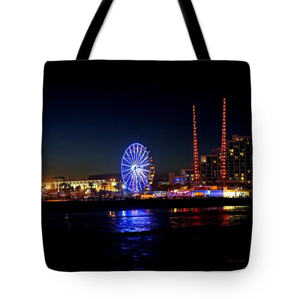 Tote Bag featuring the photograph Daytona At Night by Laurie Perry