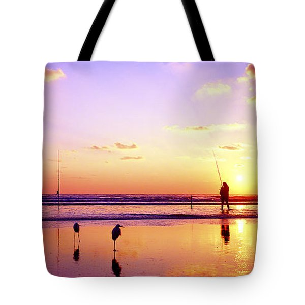Daytona Beach Fl Surf Fishing And Birds Tote Bag