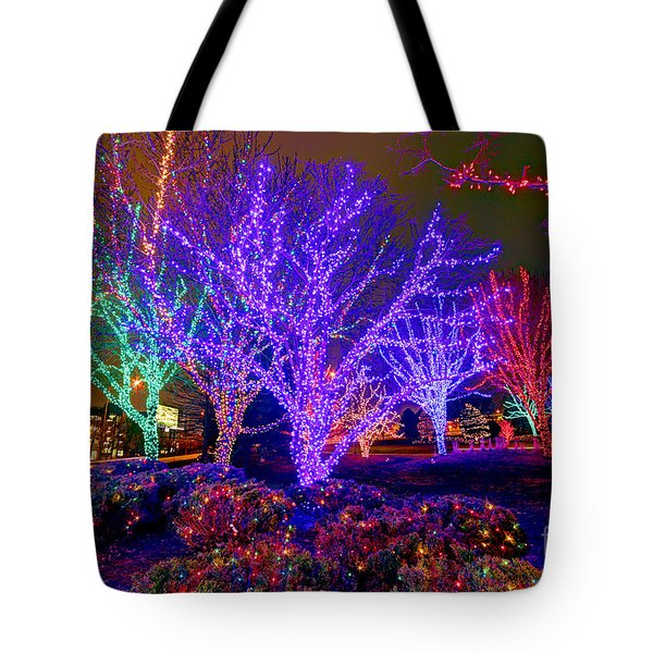 Dazzling Christmas Lights Tote Bag by Martin Konopacki