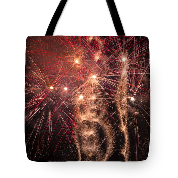 Dazzling Fireworks Tote Bag by Garry Gay