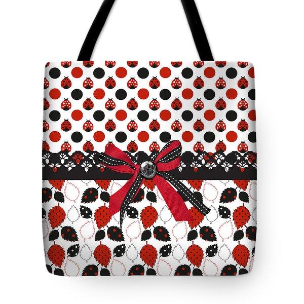 Dazzling Ladybugs  Tote Bag by Debra  Miller