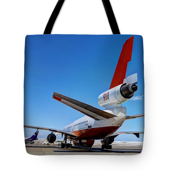 Tote Bag featuring the photograph Dc-10 Air Tanker  by Bill Gabbert