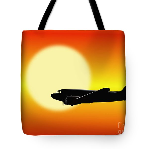 Dc-3 Passing Sun Tote Bag