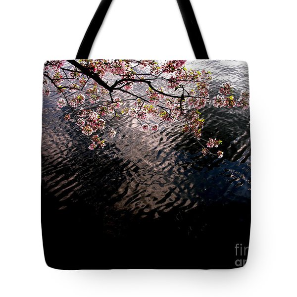 Tote Bag featuring the photograph Dc Cherry And Black by Jacqueline M Lewis