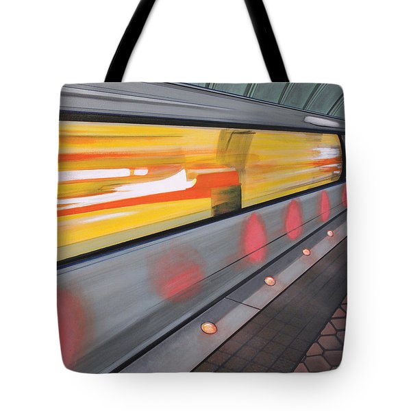 Tote Bag featuring the painting Dc Light Rail by Jude Labuszewski