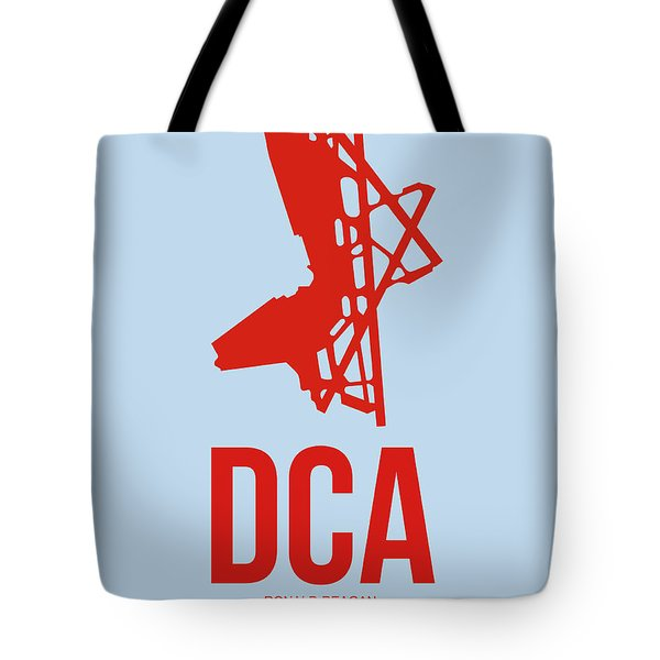 Dca Washington Airport Poster 2 Tote Bag by Naxart Studio