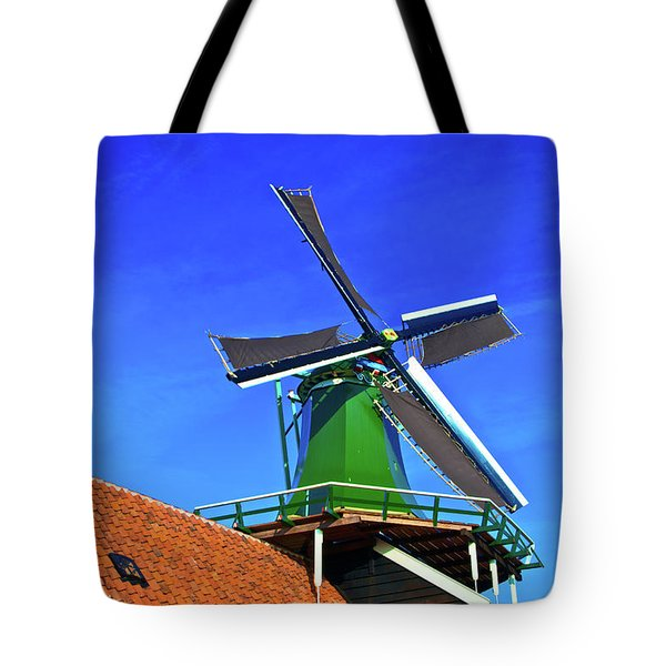 Tote Bag featuring the photograph De Huisman Spice Mill by Jonah  Anderson